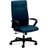 "HON Ignition Executive High-Back Chair - Fabric Mariner Seat - Mariner Back - Wood Frame - 5-star Base - 20"" Seat Width x 18"" Seat Depth - 38"" Width x 27"" Depth x 47.5"" Height"