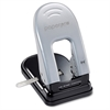"inDULGE 40 Two-Hole Punch - 2 Punch Head(s) - 40 Sheet Capacity - 9/32"" Punch Size - 6.5"" x 2.8"" - Black, Silver"