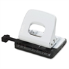 "CARL Alysis Colorful Two-hole Punches - 2 Punch Head(s) - 18 Sheet Capacity - 1/4"" Punch Size - White"