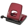 "CARL Alysis 2-Hole Punch - 2 Punch Head(s) - 32 Sheet Capacity - 1/4"" Punch Size - Red"
