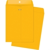 "Business Source Rugged Kraft Clasp Envelope - Clasp - #110 - 12"" Width x 15.50"" Length - 32 lb - Clasp - Kraft - 100 / Box - Brown Kraft"