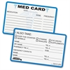 Tabbies Medical Information Cards - 25 / Pack