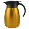 Genuine Joe 1.2L Vacuum-insulated Flip-top Carafe - 1.3 quart (1.2 L) - Vacuum - Stainless Steel, Gold