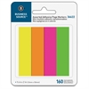 "Page Marker Pad - 40 x Bright Yellow, 40 x Bright Green, 40 x Bright Pink, 40 x Bright Purple - 0.75"" x 2"" - Rectangle - Assorted - Removable, Repositionable, Self-adhesive - 4 / Pack"