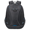 "Solo Tech Carrying Case (Backpack) for 17.3"" Notebook, iPad, Digital Text Reader, Tablet PC - Black, Blue - Polyester - Handle, Backpack Strap - 18.8"" Height x 14"" Width x 7"" Depth"