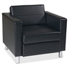 "Ave Six Wall Street PAC51 Pacific Arm Chair - 32"" x 31"" x 29.5"" - Vinyl Black Seat"
