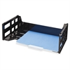 "OIC High-capacity Desk Trays - 5.1"" Height x 16.3"" Width x 9"" Depth - Desktop - Recycled - Black - Plastic - 1Each"