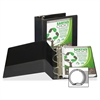 "Samsill Earth's Choice Round Ring View Binders - 5"" Binder Capacity - Letter - 8 1/2"" x 11"" Sheet Size - Round Ring Fastener - 2 Internal Pocket(s) - Polypropylene - Black - Recycled - 1 Each"
