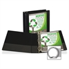 "Samsill Earth's Choice Round Ring View Binders - 2"" Binder Capacity - Letter - 8 1/2"" x 11"" Sheet Size - Round Ring Fastener - 2 Internal Pocket(s) - Polypropylene, Chipboard - Black - Recycled - 1 Ea"