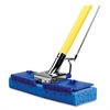 "Butterfly Mop - 9.88"" x 1.13"" Sponge Head - 47"" x 0.88"" Handle - Scrubber Strip, Squeeze-action - 2 / Carton - Blue"