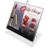 Superior Image Easel Frame Sign Holder - Horizontal - 1 Each - Clear