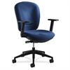 "Safco Rae Ergonomic Task Chair - Blue Seat - 5-star Base - 19.50"" Seat Width x 18.50"" Seat Depth - 26"" Width x 26"" Depth x 41"" Height"