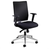 "Safco Tez Manager Chair - Fabric Black Seat - Black Back - Steel Frame - 5-star Base - Nylon - 19.25"" Seat Width x 18.50"" Seat Depth - 25.5"" Width x 25.5"" Depth x 40.5"" Height"