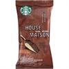 Starbucks House Blend Single Pot Ground Coffee - Regular - House Blend, Nut, Cocoa - Medium - 2.5 oz Per Pack - 18 Packet - 18 / Box