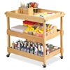 "Early Childhood Resources Birch Hardwood Utility Cart - Natural - 4 Casters - Hardwood, Birch - 34.5"" Width x 32.5"" Depth x 21.3"" Height - Natural"