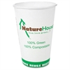 Savannah Supplies Compostable Paper/PLA Cup - 10 fl oz - 50 / Pack - White - Polylactic Acid (PLA) - Hot Drink, Cold Drink