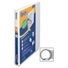 "QuickFit Round Ring Unique Design Binder - 5/8"" Binder Capacity - Letter - 8 1/2"" x 11"" Sheet Size - 100 Sheet Capacity - Round Ring Fastener - 2 Internal Pocket(s) - Vinyl - White - Recycled -"