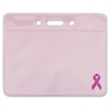 Advantus Breast Cancer Awareness Badge Holder - Horizontal - 25 / Pack - Pink