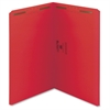 "Smead Legal Colored Top Tab Fastener Folders - 3/4"" Folder Capacity - Legal - 8 1/2"" x 14"" Sheet Size - Straight Tab Cut - Top Tab Location - 11 pt. Folder Thickness - Paperboard - Red - Recycled - 50"
