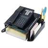 "Recycled Telephone Stand - 3 Compartment(s) - 5.3"" Height x 12.3"" Width x 10.5"" Depth - Recycled - Black - Rubber, Plastic - 1Each"