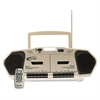 Califone 6W Dual Cassette/CD Via Ergoguys - 1 x Disc - 6 W Stereo Speaker LCD - 20 Programable Tracks - CD-DA - 108 MHz, 1710 kHz