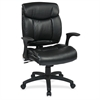 "FL89675 Faux Leather Managers Chair with Flip Arms - Faux Leather Black Seat - Faux Leather Black Back - 20"" Seat Width x 20"" Seat Depth27"" Width x 26"" Depth x 42"" Height"