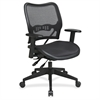 "Deluxe Air Grid Seat/Back Chair - Black - 20"" Seat Width x 20"" Seat Depth - 26.5"" Width x 28.3"" Depth x 42.5"" Height"