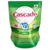 Cascade Dishwasher Action Pacs - Powder, Liquid - 12.70 oz (0.79 lb) - Fresh, Original Scent - 20 / Pack - White, Blue