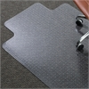 "ES Robbins AnchorBar Lipped Chairmat - Carpeted Floor - 48"" Length x 36"" Width - Clear"