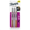 Sharpie Metallic Permanent Markers - Fine Point Type - Gold, Silver, Bronze Alcohol Based Ink - 3 / Set