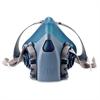 3M 7500 Series Half Fpiece Respirators - Large Size - Heat, Moisture, Debris, Gases, Vapor, Particulate Protection - Silicone - Aqua - 1 Each