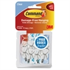 Command Clear Wire Hooks Value Pack, Small, 0.5lb Capacity, 9 Pack - 9 Small Hook - 8 oz (226.8 g) Capacity - for Utensil, Pictures, Mirror - Plastic - Clear - 9 / Pack