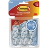 Command Clear Medium Hook Value Pack - 6 Medium Hook - 2 lb (907.2 g) Capacity - for Pictures, Mirror - Plastic - Clear - 12 / Pack