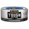 "Scotch Tough Transparent Duct Tape - 1.88"" Width x 60 ft Length - Durable, Easy Tear - 1 Roll - Clear"