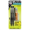 Zebra Pen Z Tap Mechanical Pencil - HB, #2 Lead Degree (Hardness) - 0.7 mm Lead Diameter - Refillable - Black Lead - Smoke, Black Barrel - 2 / Each