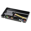 "OIC 9-compartment Drawer Tray - 9 Compartment(s) - 1.1"" Height x 14"" Width x 9"" Depth - Recycled - Black - Plastic - 1Each"