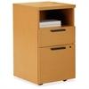 """HON 10500 Series Laminate Desk Ensembles - 15.8"""" x 18"""" x 28"""" - 2 x Box Drawer(s), File Drawer(s) - 1 Shelve(s) - Square Edge - Material: Wood - Finish: Harvest, Laminate"""