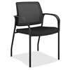 "HON Ignition Mesh Back Multipurpose Stacking Chair - Fabric Black Seat - Steel Frame - Four-legged Base - Black - 25.3"" Width x 25.5"" Depth x 34.3"" Height"