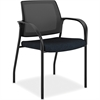 "Mesh Back Multipurpose Stacking Chairs - Mesh Fabric Mariner Seat - Steel Frame - Four-legged Base - 25.3"" Width x 25.5"" Depth x 34.3"" Height"