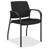 "HON Multipurpose Stacking Chairs w/Glides - Black Seat - Steel Frame - Four-legged Base - Black - 25.5"" Width x 25.3"" Depth x 34.3"" Height"