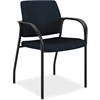 "Multipurpose Stacking Chairs w/Glides - Fabric Blue Seat - Steel Frame - Four-legged Base - Mariner - 25.5"" Width x 25.3"" Depth x 34.3"" Height"