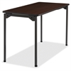 "Maxx Legroom Wood Folding Table - Rectangle Top - Four Leg Base - 4 Legs - 24"" Table Top Width x 48"" Table Top Depth x 0.75"" Table Top Thickness - 29"" Height - Walnut"