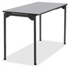 "Maxx Legroom Wood Folding Table - Rectangle Top - Four Leg Base - 4 Legs - 24"" Table Top Width x 48"" Table Top Depth x 0.75"" Table Top Thickness - 29"" Height - Gray"