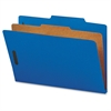 "Cleared Top-tab 1-Divider Classification Folder - Legal - 8 1/2"" x 14"" Sheet Size - 2"" Fastener Capacity for Folder, 2"" Fastener Capacity, 2"" Fastener Capacity - 2/5 Tab Cut - Right of Ce"