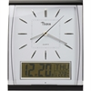 Tatco LCD Inset Elegant Rectangular Wall Clock - Analog - Quartz