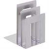 "MMF SteelMaster Soho Bookend Sorters - 8"" Height x 5"" Width x 7"" Depth - Recycled - Silver - Steel - 1Each"