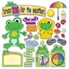 "Carson-Dellosa FUNky Frog Weather Bulletin Board Set - 1 (Frog) Shape - 14.25"" Height x 22"" Width - Assorted - 82 / Set"