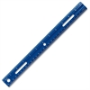 "Fiskars Schoolworks Opaque Plastic Ruler - 12"" Length - 1/16 Graduations - Imperial, Metric Measuring System - Plastic - 1 Each - Blue"