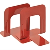 "MMF Economy Steel 5"" Bookends - 5"" Height x 5.3"" Width x 4.7"" Depth - Recycled - Red - Steel - 2 / Pair"