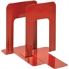 "MMF Deluxe Steel 9"" Bookends - 9"" Height x 5.9"" Width x 8.2"" Depth - Recycled - Red - Steel - 2 / Pair"